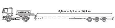 Dieplader met een laadvermogen tot 27 ton