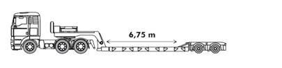Lage dieplader met een laadvermogen tot 25 ton