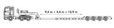 Lage dieplader met een laadvermogen tot 50 ton