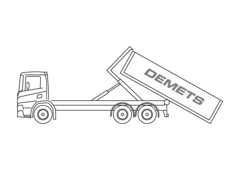 containervrachtwagen 12t