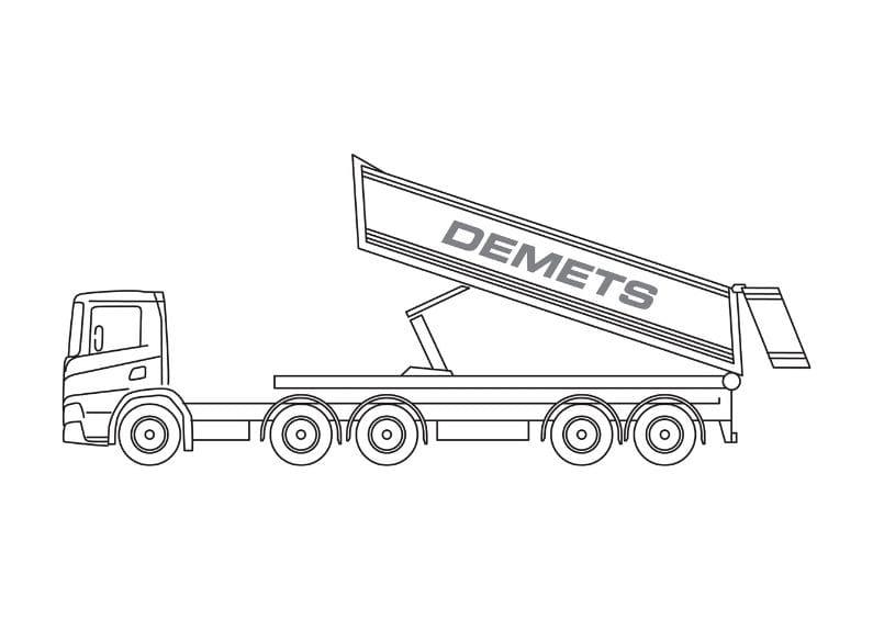 containervrachtwagen 25t