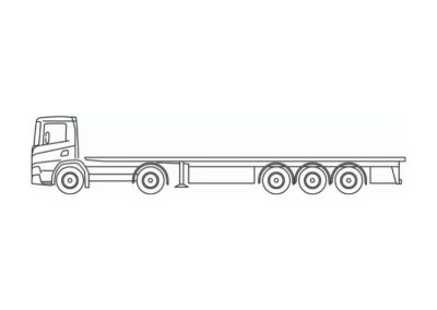 Semi-remorque extra-surbaissée « tiroir » pour les éléments préfabriqués