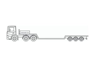 Low loader with a loading capacity up to 30 metric tons