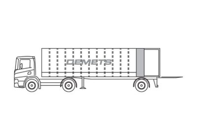 Closed trailer with a interior length of 10m – Citytrailer
