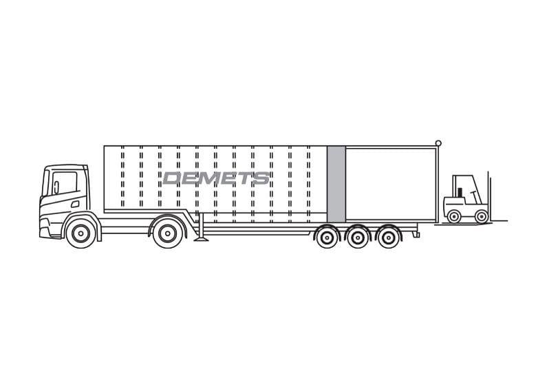 gesloten vrachtwagen 25t