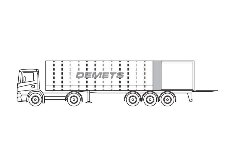 gesloten vrachtwagen 30t