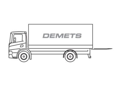 Closed truck with a load capacity of 5T or 14T
