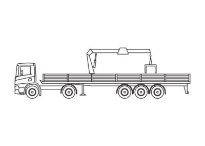 Kraanoplegger (14 T/m) met rolkraan