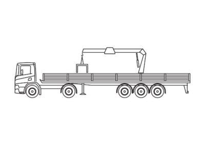 Kraanoplegger (16 T/m) met rolkraan