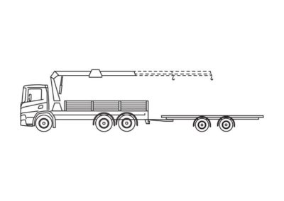 Crane truck with trailer 35T/m