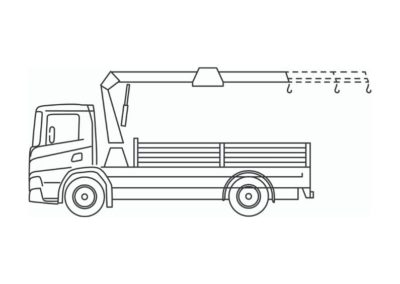 Crane truck 14T/m