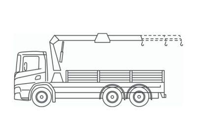 Crane truck 24T/m or 35T/m