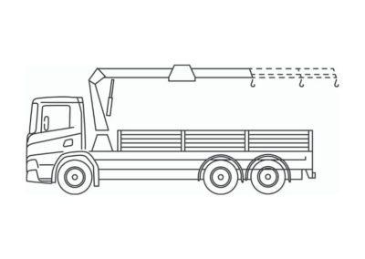 Kraanvrachtwagen (35T/m)