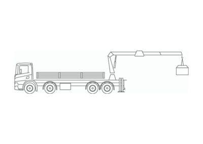 Crane truck 59 T/m