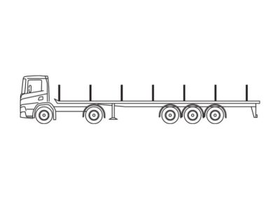 Open truck with a load floor length of 13.5m