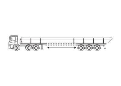 Open oplegger (30T) met laadvloerlengte tot 20m
