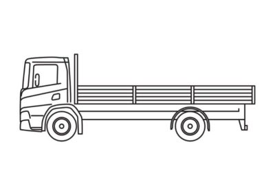 Open truck with a load floor length of 5m and 7m