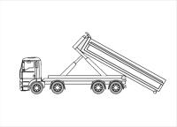 Camion porte-conteneurs 8×4