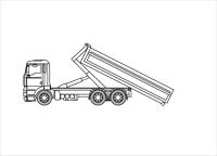 Camion porte-conteneurs 6×4