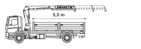 Camion-grue 14 t / m
