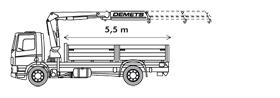 Kraanvrachtwagen 14T/m