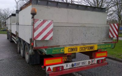 Transport of prefab concrete chambers – 2.90 m width