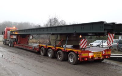 Transport of bridge elements – 18 m length