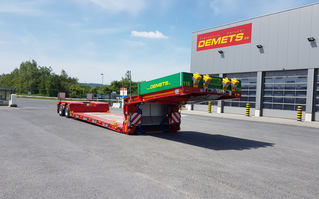 Deep low loader with coil pit -extendable up to 12.3 meters