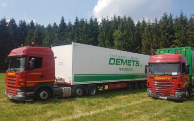 Transport with closed trucks