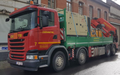 Nieuw! Vrachtwagen met laadkraan 59 T/m – gieklengte tot 18.00 m en kabellier