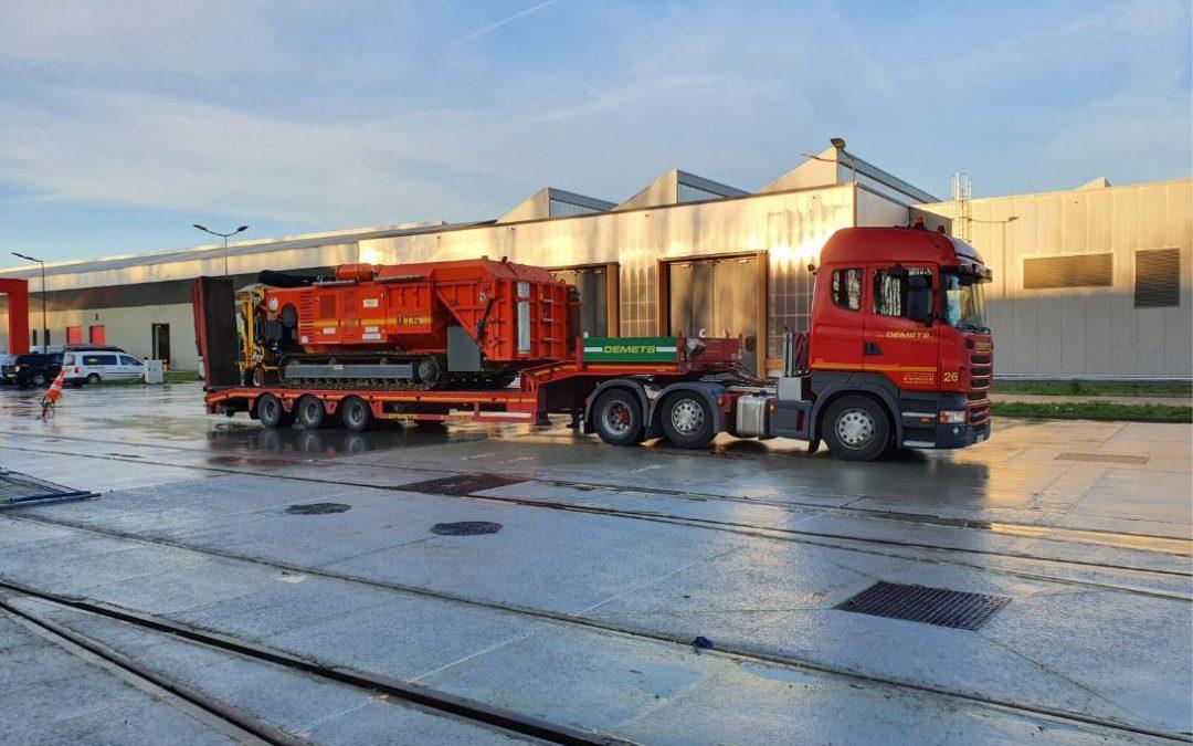 transport machine 20 t dieplader laadrampen