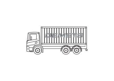 Container- en wissellaadbakken (1 x 20′)