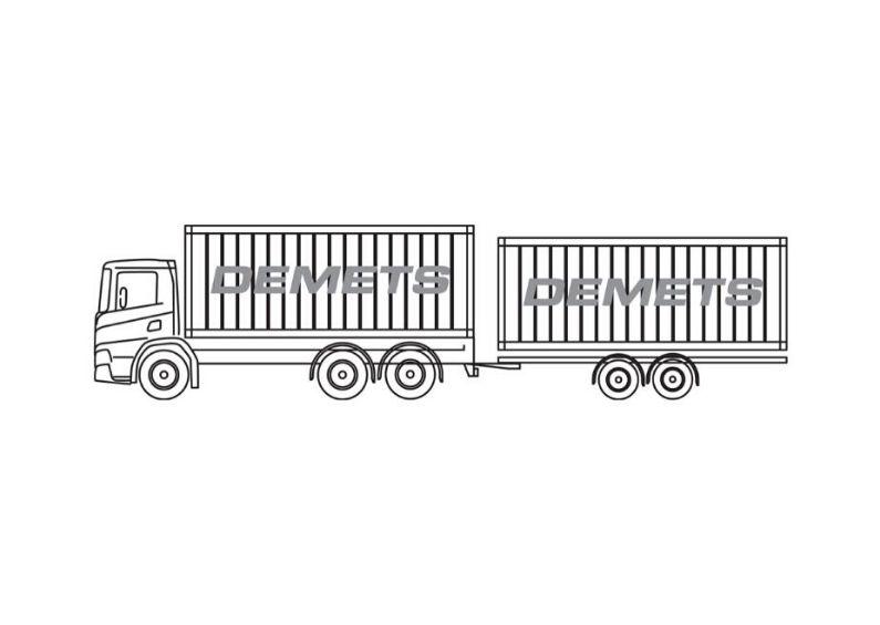 container wissellaadbakken 2x20 3