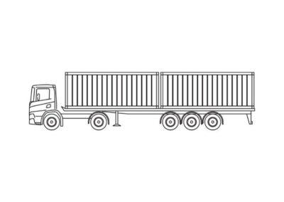 Container- en wissellaadbakken voor transport van maritieme containers