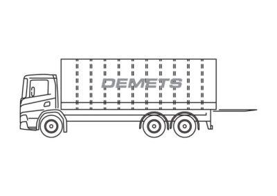 Gesloten vrachtwagen (10T) met laadklep (2T)