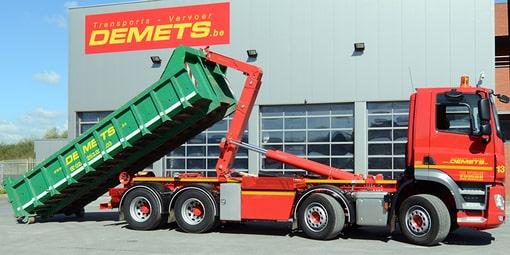 vervoer losgestorte goederen container