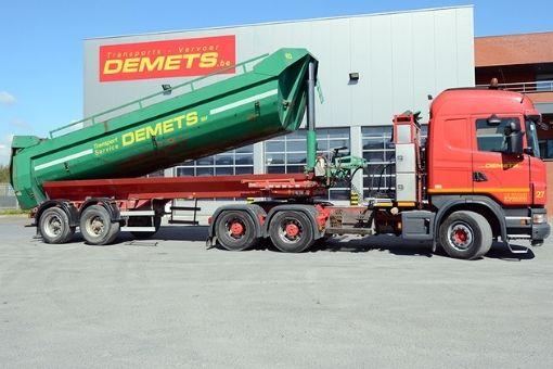vervoer losgestorte goederen oplegger